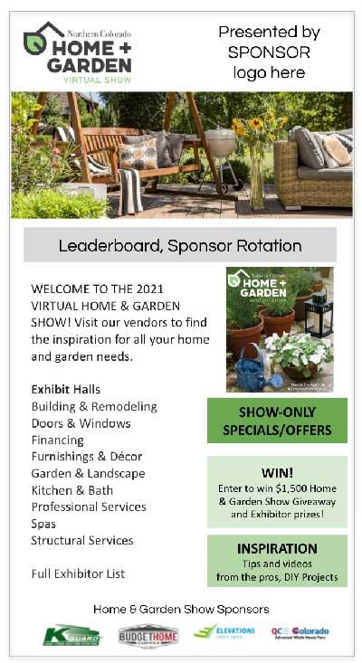 Home and Garden Show Website Mockup